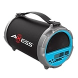 Axess® Indoor/Outdoor HIFI Bluetooth Speaker with 4 Subwoofer/Vibrating Disk, Blue (SPBT1037)