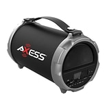 Axess® Indoor/Outdoor HIFI Bluetooth Speaker with 4 Subwoofer/Vibrating Disk, Gray (SPBT1037)