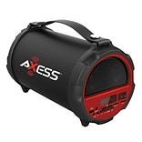 Axess® Indoor/Outdoor HIFI Bluetooth Speaker with 4 Subwoofer/Vibrating Disk, Red (SPBT1037)