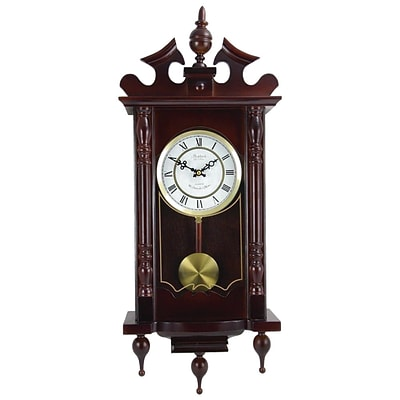 Bedford Analog 31 Cherry Oak Classic Chiming Wall Clock (BED-1611)