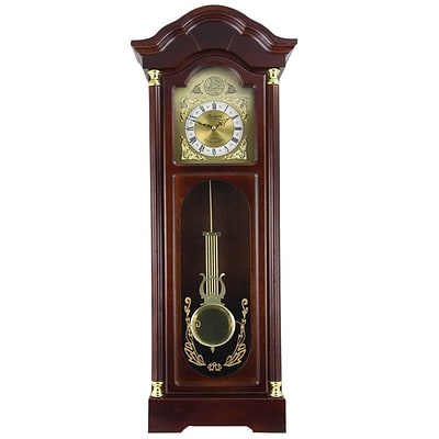 Bedford Analog 33 Cherry Oak Antique Chiming Wall Clock (BED-1615)