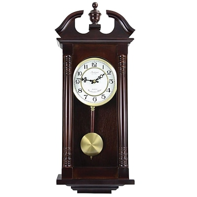 Bedford Analog 27 1/2 Cherry Oak Classic Chiming Wall Clock (BED-1912)