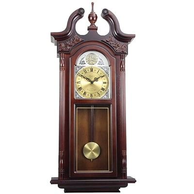 Bedford Analog 38 Cherry Oak Grand Antique Chiming Wall Clock (BED-7715)