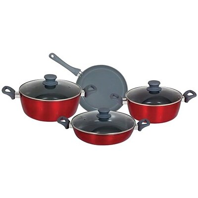 Better Chef® Aluminum 7 Piece Cookware Set, Red (91594706M)