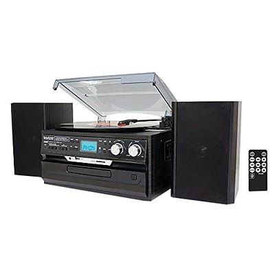 Boytone™ 3-Speed Stereo Turntable with CD/Cassette Player, Black (BT-24DJB)
