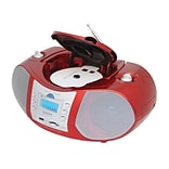 Boytone™ 3.4 W Portable Boombox Music System, Red (BT-6R)