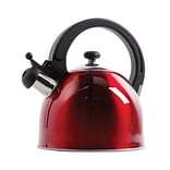 Gibson Mr. Coffee® Walston Stainless Steel Tea Kettle, 2 qt, Metallic Red (108007.01)