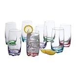 Gibson Karissa 8 Piece Drinking Glass Tumbler Set, Assorted, 13 oz. (92361.08)