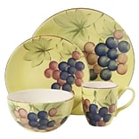 Gibson Home 97976.16 Fruitful Harvest Grapes 16 Piece Dinnerware Set