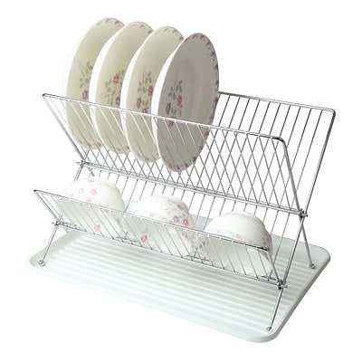 Mega Chef Wire Dish Rack with Tray, White (92596415M)