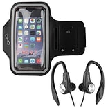 Supersonic® IQ Sound® SC-222AE Sport Armband and Earphones with Microphone, Black