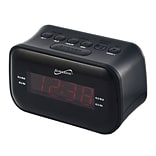 Supersonic® Bluetooth Clock Radio with 0.9 Display, Black (SC-378BT)