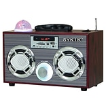 Sykik™ SP2021BT 10 W Bluetooth Boombox with SD/MMC/USB FM Radio, Black