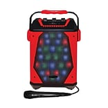 Technical Pro Rechargeable LED Speaker with Wired Microphone, Ferrari Red (WASP460)