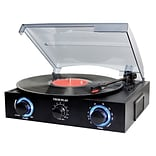 Techplay 3-Speed Turntable with Pitch Control, Black (TCP2 BK)