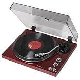 Techplay 2-Speed Analog Turntable with Built In Phono Pre-Amp, Piano Cherry (TCP4530)
