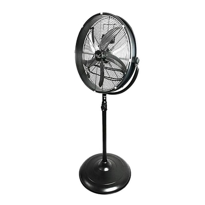 Vie Air 25 3-Speed Oscillating Pedestal Fan, Black (91596360M)