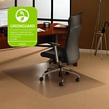 Floortex® Cleartex® Ultimat Polycarbonate Rectangular Chairmat; 47 x 30, Clear