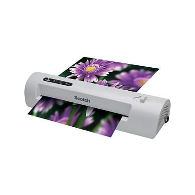 Scotch™ TL901SC 8.5x11, 5mil-Sheet Thermal Laminator Bundle with 20 Letter-Size Pouches,  Silver