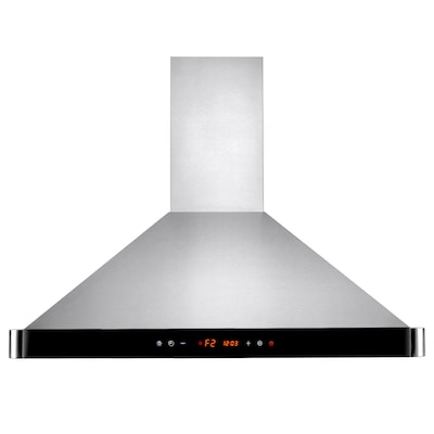 Akdy 30'' 400 Cfm Convertible Wall Mount Range Hood; Black