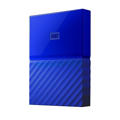 WD® My Passport WDBYNN0010BBL-WESN 1TB USB 3.0 External Hard Drive, Blue