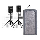 Accent Lecterns Dan James Original Accent Classic Presenter Full Podium w/ 2 External Speakers