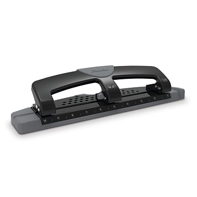 Swingline® SmartTouch 3-Hole Punch, 12-Sheet Capacity/20 lb., Black (A7074134)