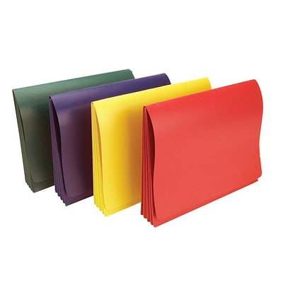 Wilson Jones® ColorLife® Expanding Wallet, 9 1/2 x 11 3/4, Asst. Colors, 5 Pk.