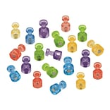 Quartet® Magnetic Push Pins, High Power Magnets, Bright Colors, 20 Pack