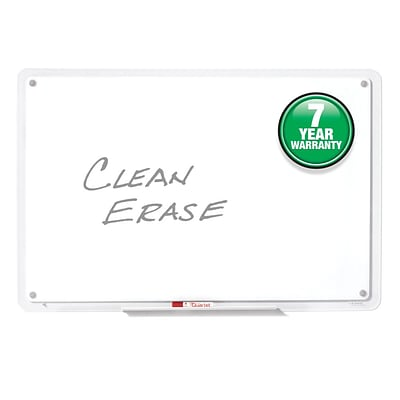 Quartet® iQ™ Total Erase® Whiteboard, 46.5 x 31, Translucent Frame