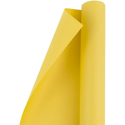 JAM Paper® Matte Wrapping Paper, Matte Yellow, 25 Sq Ft, Sold Individually (170131176)