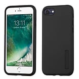 Insten Slim Hybrid Dual Layer Soft Hard Cover Case For Apple iPhone 7 - Black