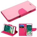 Insten Luxury Wallet Leather Stand Case Cover with Card Slots For iPhone 7/ 8, Pink