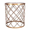 Wildon Home   Halifax Rope Wrapped Mirrored End Table