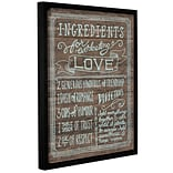 Latitude Run Ingredients for Life III Framed Textual Art on Wrapped Canvas; 10 H x 8 W x 2 D