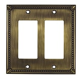 Richelieu Decora Double Switch Plate; Antique English