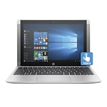 HP® x2 Detachable X7U39UA 10.1 2-in-1 Notebook, Touch LCD, Atom x5-Z8350 1.44 GHz, 32GB, 2GB, Win 10 Home, Silver