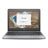 HP® X7T64UA 11.6 Chromebook, LCD, Celeron N3060 1.6 GHz, 16GB, 4GB, Chrome, Ash Gray/Anodized Silve
