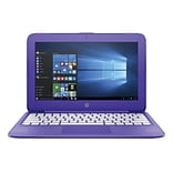 HP® Stream N9E37UA 11.6 Laptop, LCD, Celeron N3060 1.6 GHz, 32GB, 4GB, Win 10 Home, Violet Purple