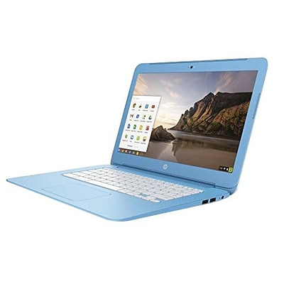 HP® N9E37UA 14 Chromebook, LCD, Celeron N2840 2.16 GHz, 16GB, 4GB, Chrome, Sky Blue