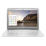 HP® N9E38UA 14 Chromebook, LCD, Celeron N2840 2.16 GHz, 16GB, 4GB, Chrome, Anodized Silver