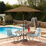 Swim Time™ Spring-Up 9 Octagonal Market Umbrella, Stone Olefin