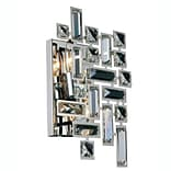 Everly Quinn Nancee 2-Light Wall Sconce; Chrome/Clear
