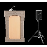 Accent Lecterns Dan James Original Accent Davinci Presenter Podium; Beige Granite/Maple