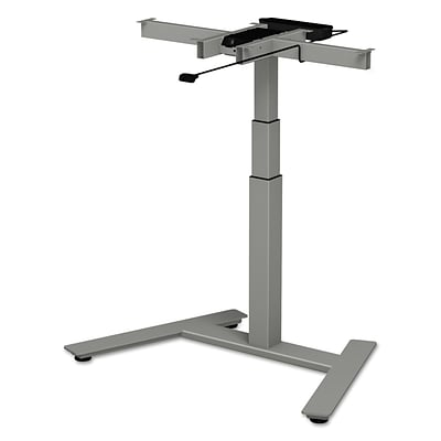 Alera® 3-Stage Single-Column Electric Adjustable Table Base, 24 1/2 to 44 3/8H, Gray