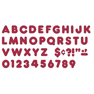 Trend® 4 Ready Letters®, Casual Maroon