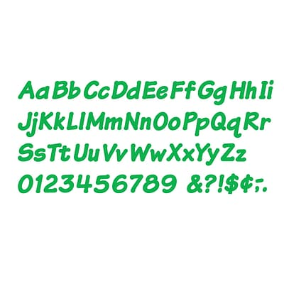 Green 4 Italic Uppercase/Lowercase Combo Ready Letters®