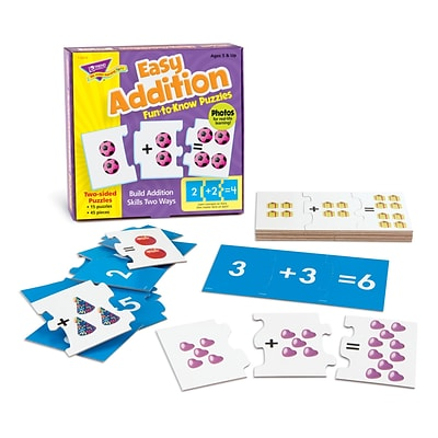 Trend® Fun-To-Know® Early Childhood Puzzles, Easy Addition