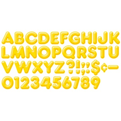 Trend® 4 Ready Letters®, 3D Casual, Yellow