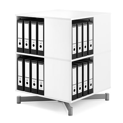 Moll® Cube Binder & File Carousel Shelving, Two Tier (CUBE2)
